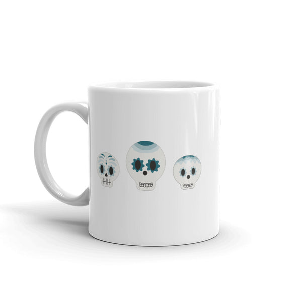 Sugar Skulls Real Teal  - Hot Toddy Mug