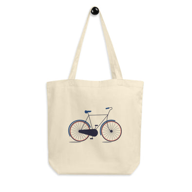 Hanauma Eco Tote Bag -  Bicycle Print - Organic Canvas