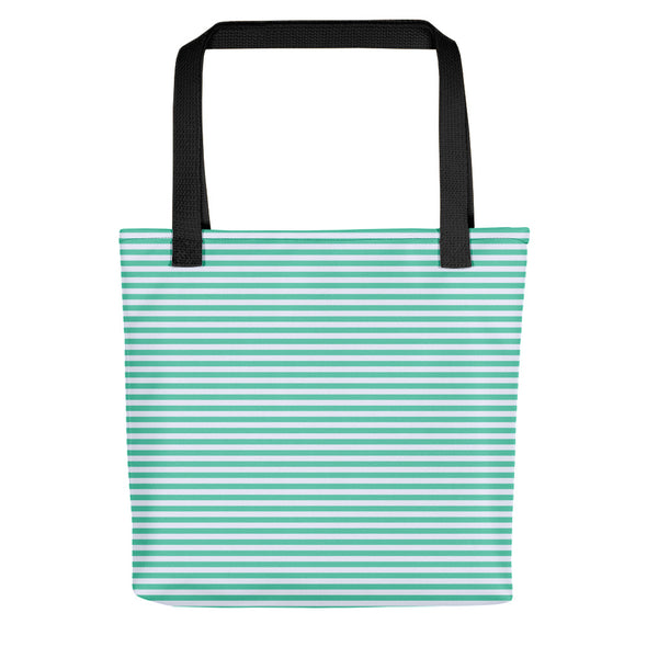 Camden Tote bag - Horizontal Stripes Biscay Green