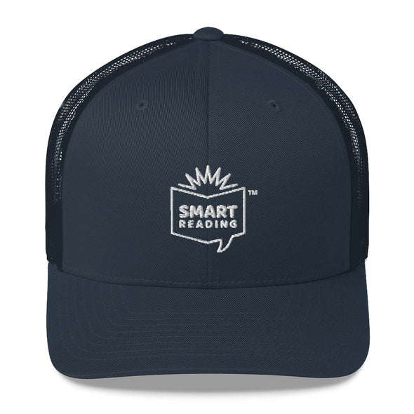 SMART Trucker Cap White logo