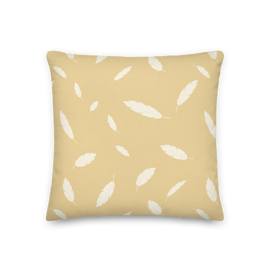 Floating Feathers Sunlight Yellow- Throw Pillow