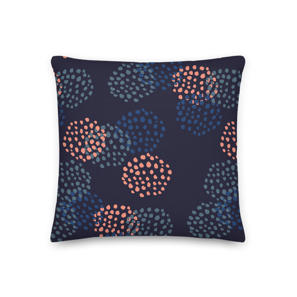 Blooms Midnight Blue - Throw Pillow