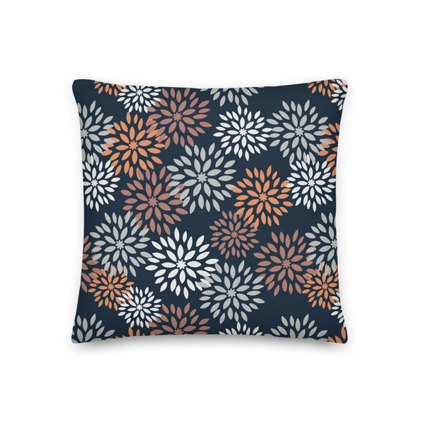 Autumn Pom Poms Real Teal - Throw Pillow