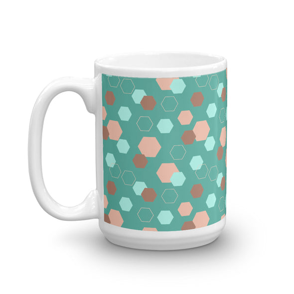 Hot Toddy Mug - Hexagon Teal