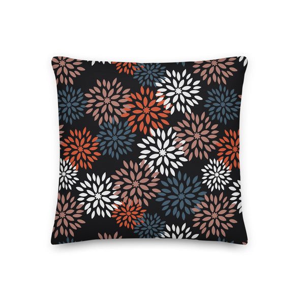 Autumn Pom Poms Black Beauty - Throw Pillow