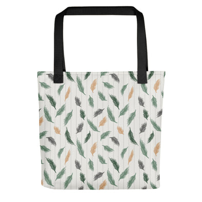 Soft Pines Green & Cream - Camden Tote