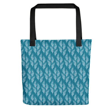 Camden Tote bag - Lovely Leaves Mosaic Blue