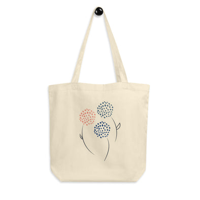 Hanauma Eco Tote Bag - Blooms Print - Organic Canvas