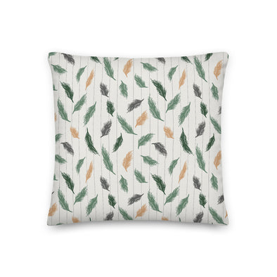 Soft Pines Green & Cream - Throw Pillow