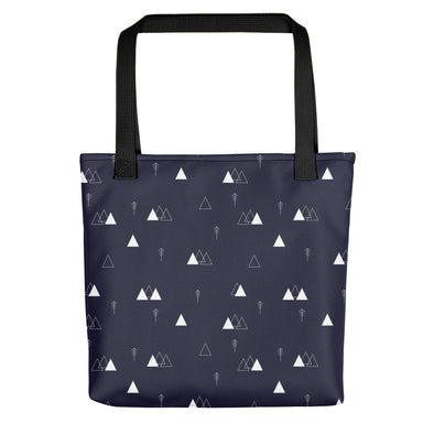 Camden Tote Bag - Mountains and Forest Evening Blue - PolyCanvas