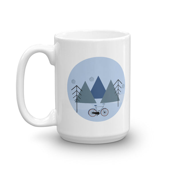Hot Toddy Mug - Mountains and Bikes Blue