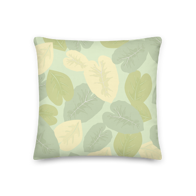 Elephant Leaves Green - Throw Pillow