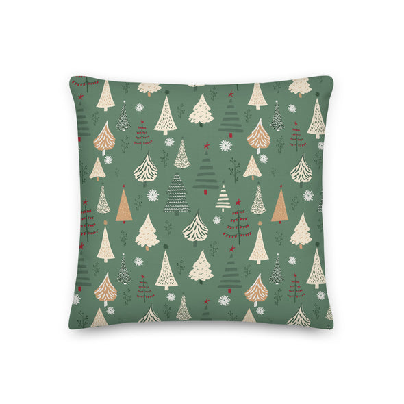 Christmas Forest Green - Throw Pillow