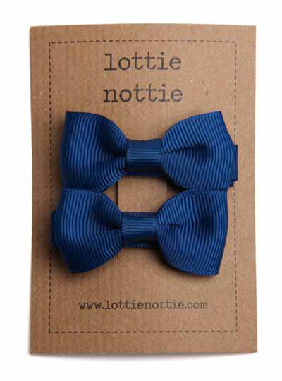 Small Pair Of Navy Bows