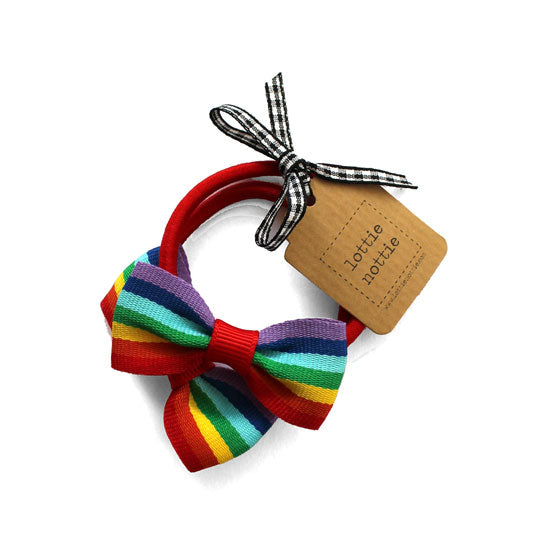 Small Rainbow Bows On Bands