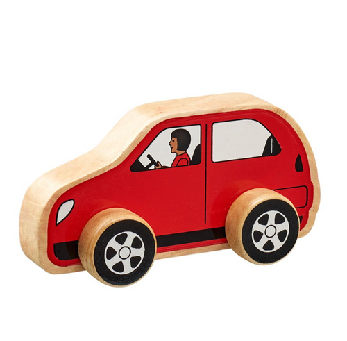 Wooden Toy Red Car