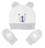 Kite Beary hat and mitts