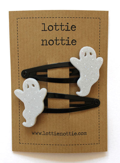 Sparkly Ghost Hair Clips