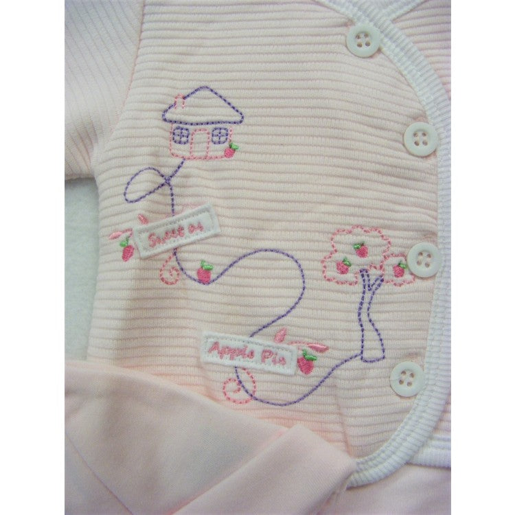 Little Chick Premature Pink Sweet as Apple Pie Sleepsuit Set
