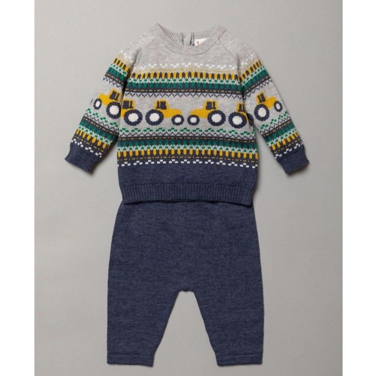 Tractor Knitted two piece set