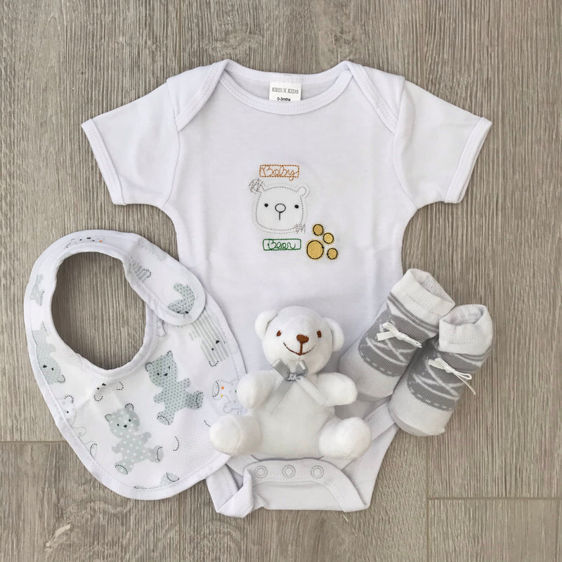 Baby Bear Boxed White Gift Set