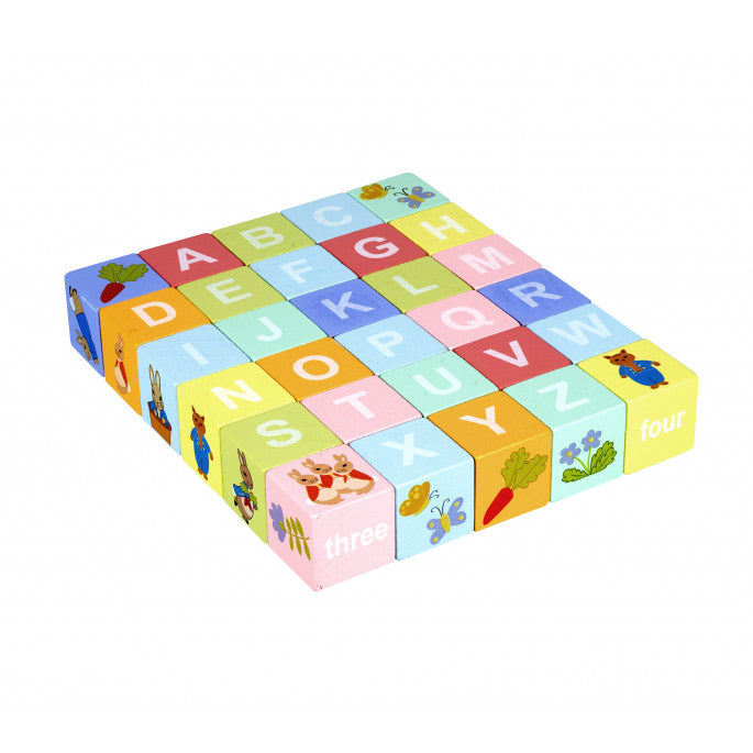 Peter Rabbit Alphabet Blocks Trolley