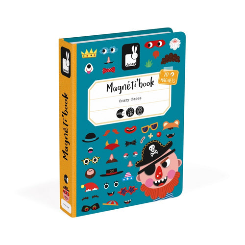 Crazy Faces Magnetic Book