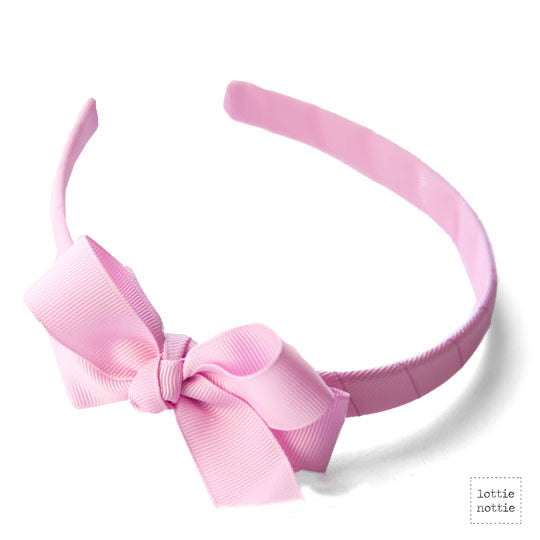 Dusty Pink Bow Alice band