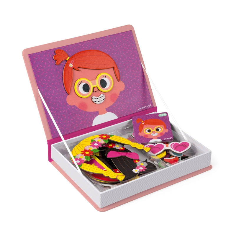 Girls Faces Magnetic Book