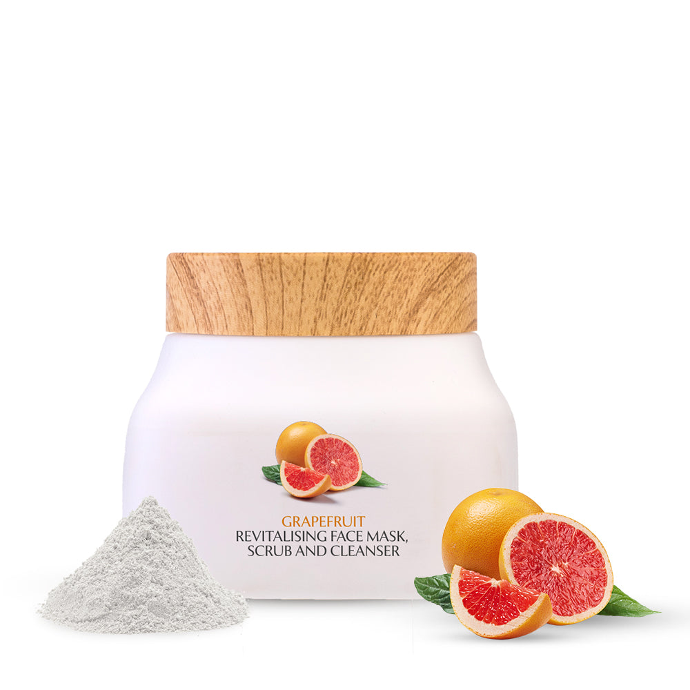 Grapefruit Revitalising Face Mask- Scrub And Cleanser - Sulphate and Paraben Free | 140 ml