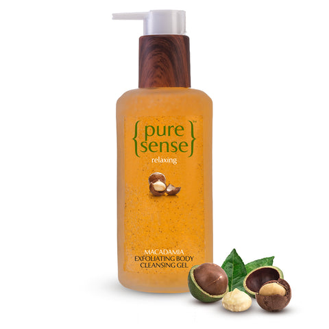 PureSense Relaxing Macadamia Exfoliating Body Cleansing Gel Sulphate and Paraben Free