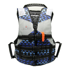 Grom (Ages 6-12) Blue Hawaiian Print Life Jacket