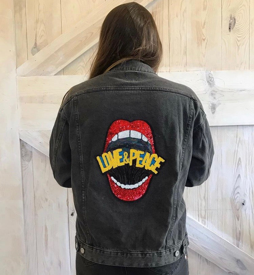 """You Are What You Speak"" Denim Jacket"