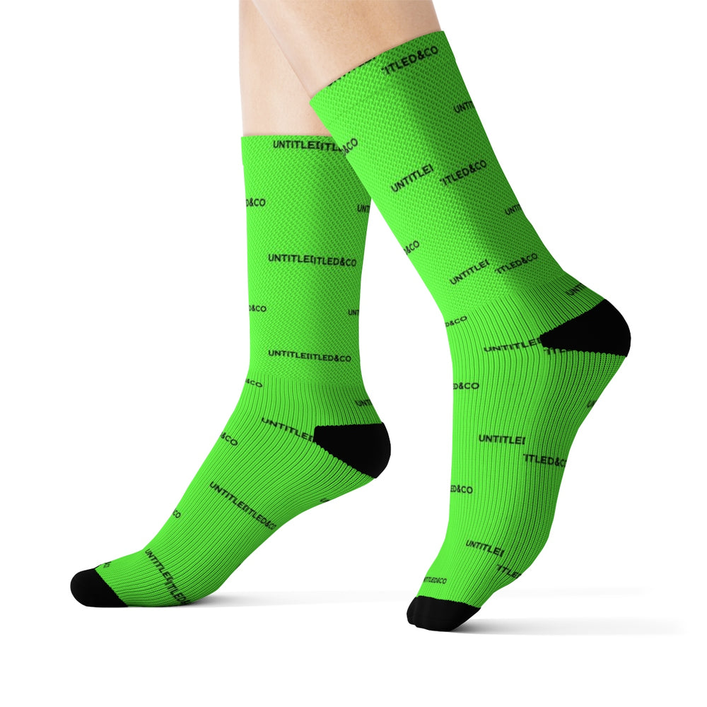 Cam Sock in Green with Black
