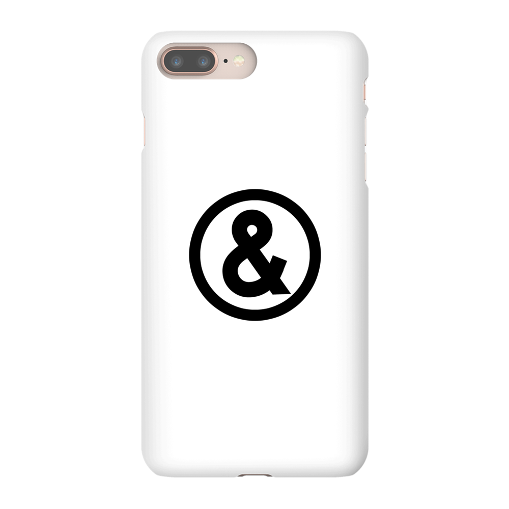 Circle Logo Phone Case in White with Black