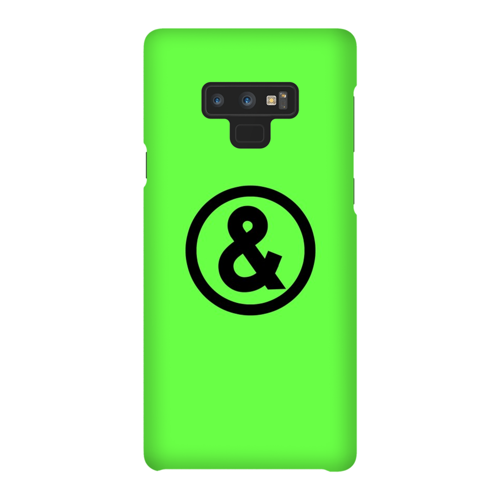 Circle Logo Phone Case in Green with Black