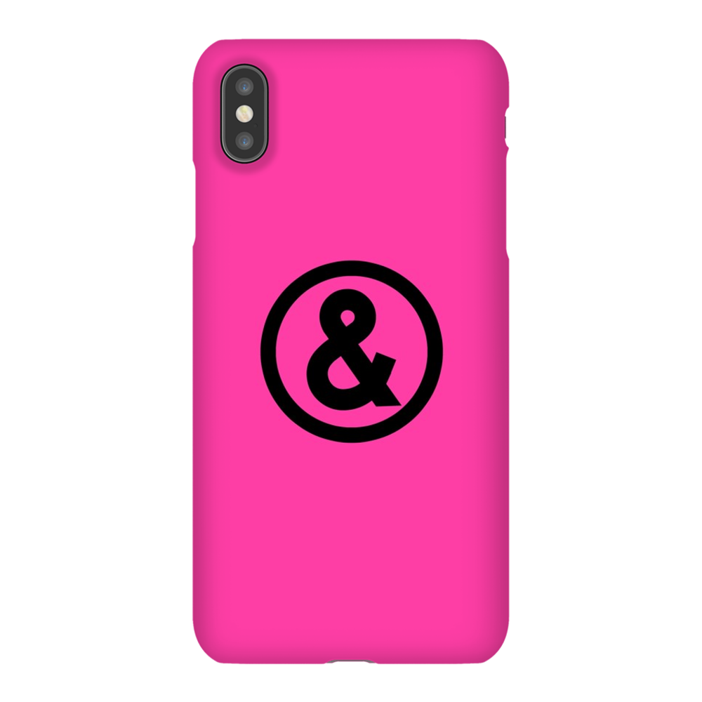 Circle Logo Phone Case in Hot Pink with Black