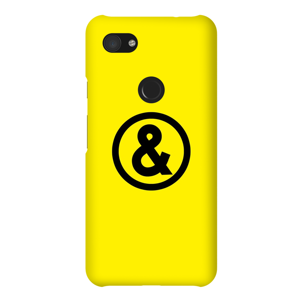 Circle Logo Phone Case in Yellow with Black