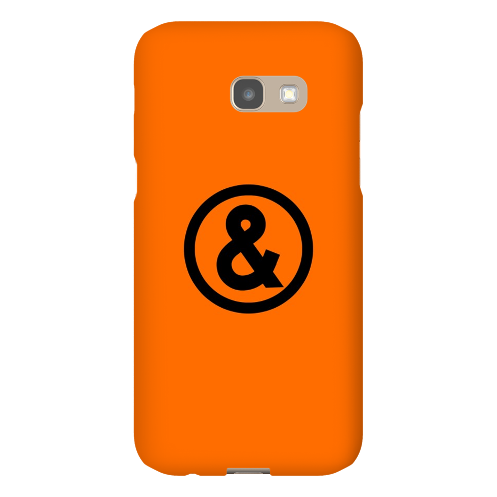 Circle Logo Phone Case in Orange with Black
