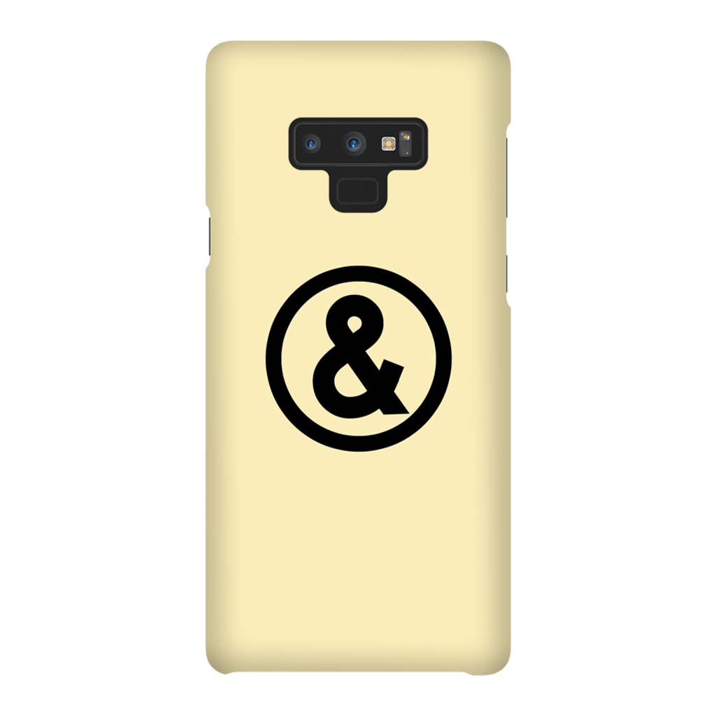 Circle Logo Phone Case in Sand with Black