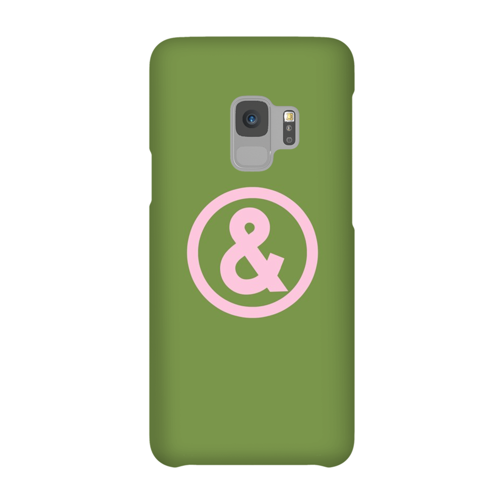 Circle Logo Phone Case in Military with Pink