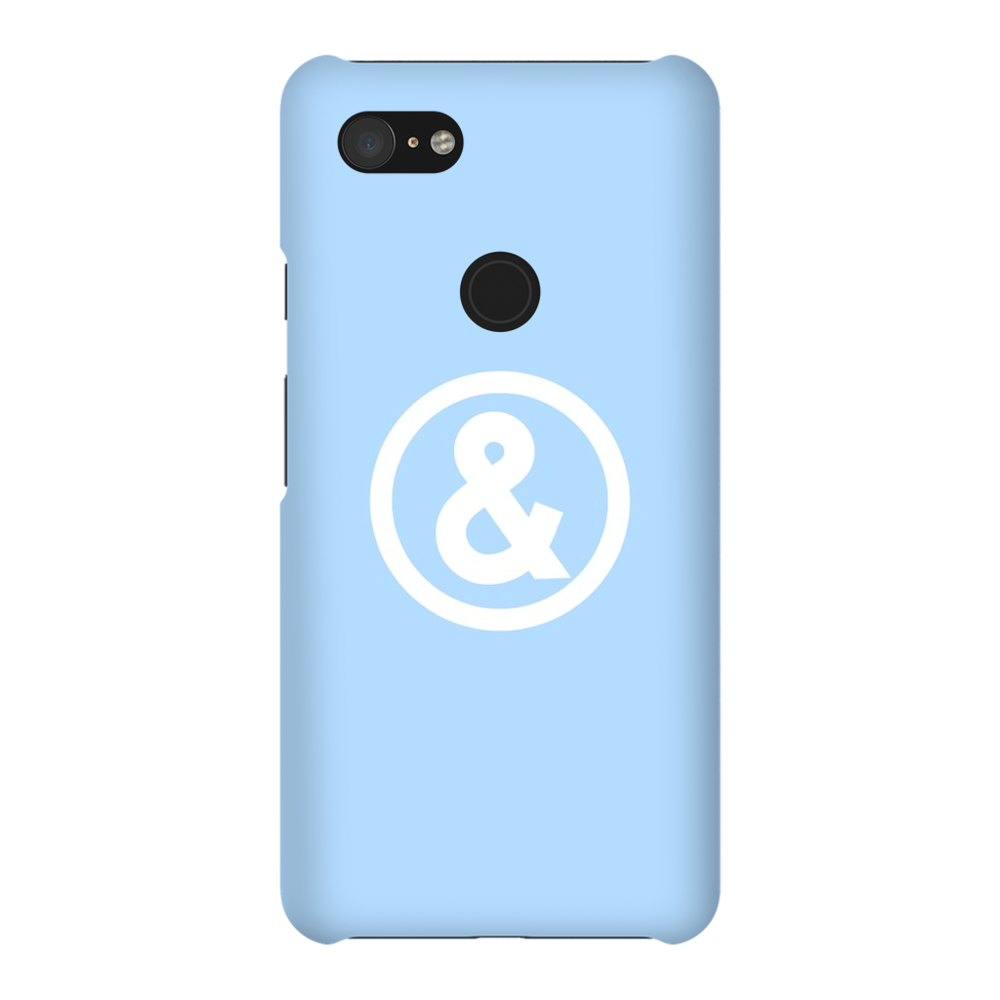 Circle Logo Phone Case in Light Blue with White