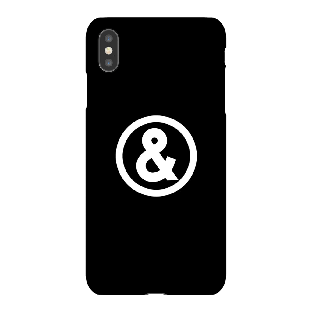Circle Logo Phone Case in Black with White