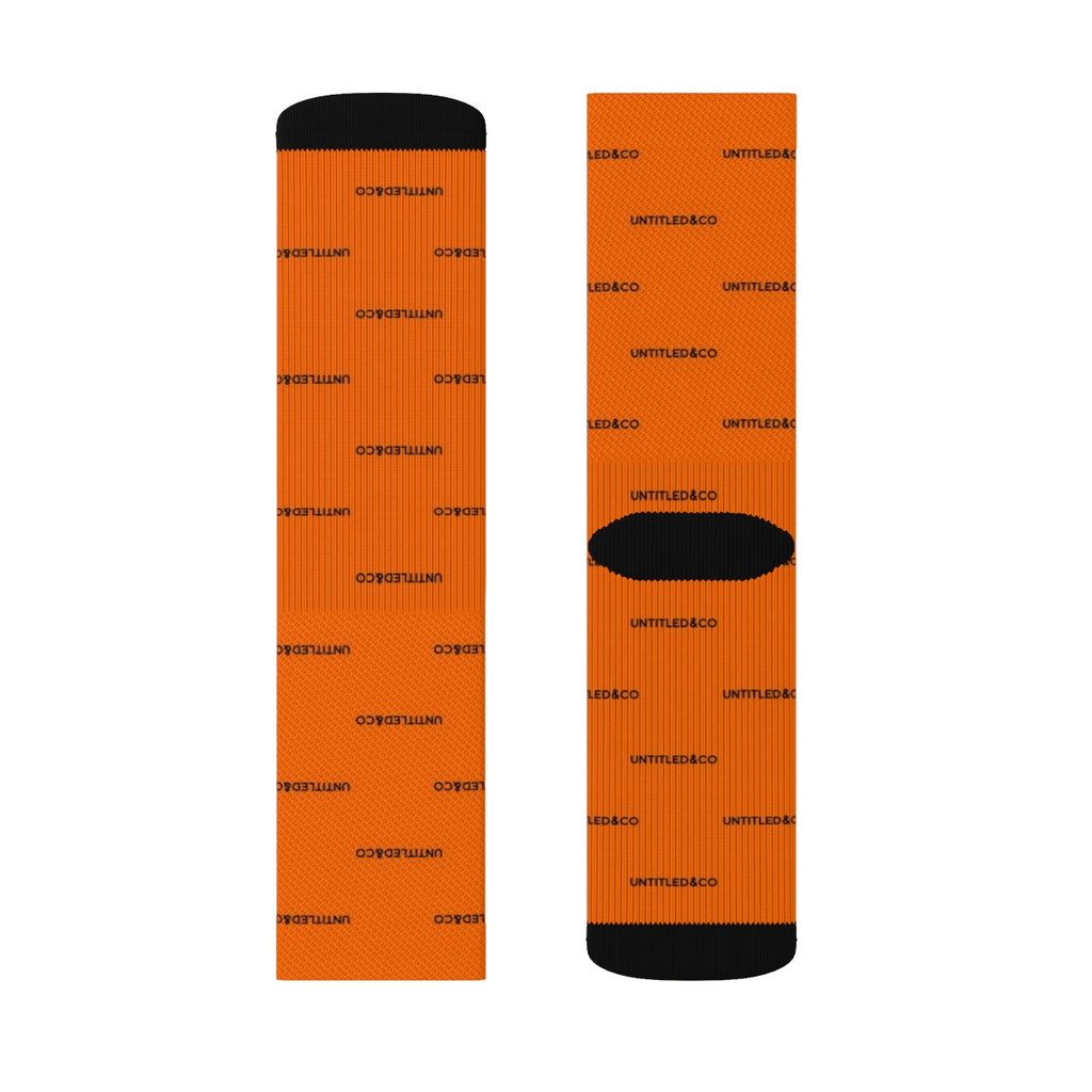 Cam Socks in Orange with Black