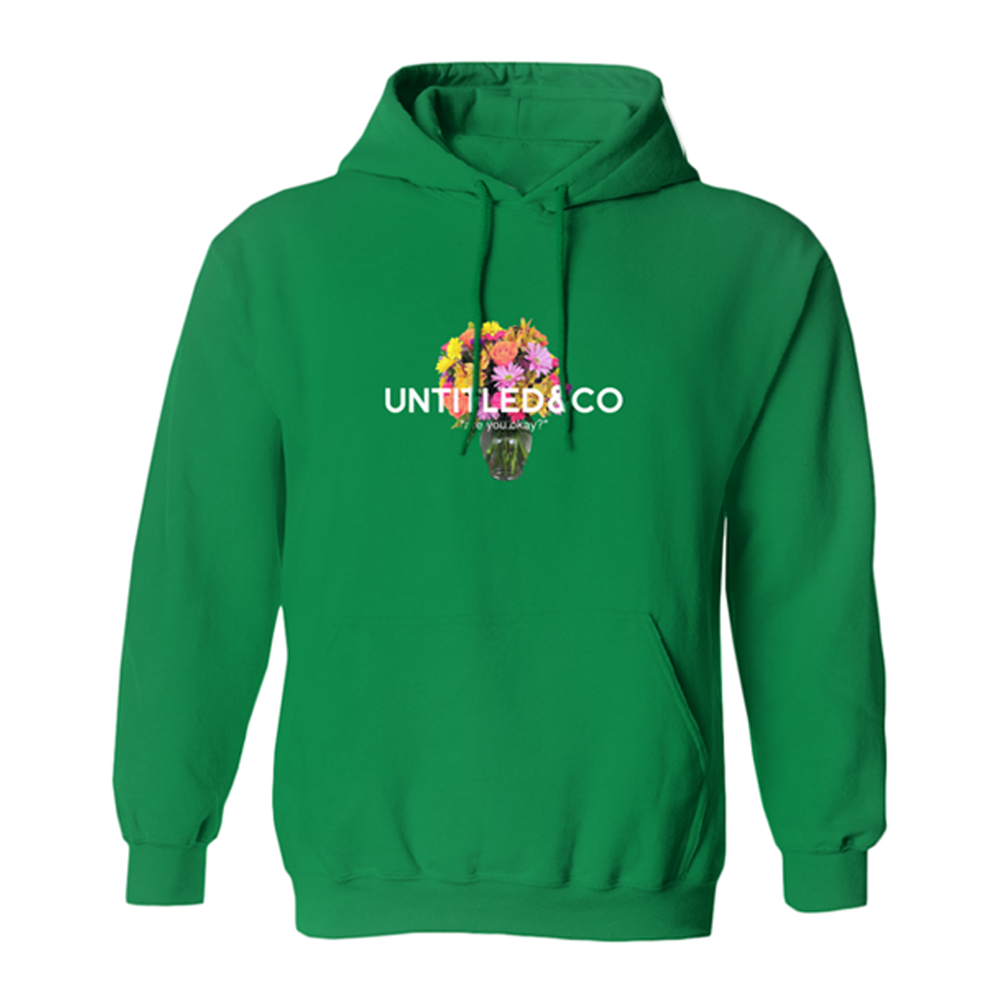 Are You Ok? Hoodie in Green