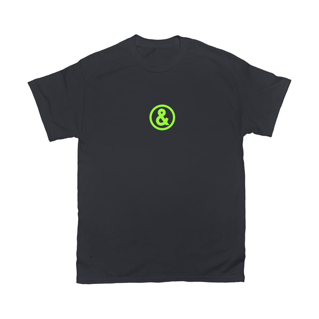 Circle Logo T-Shirt in Black with Green