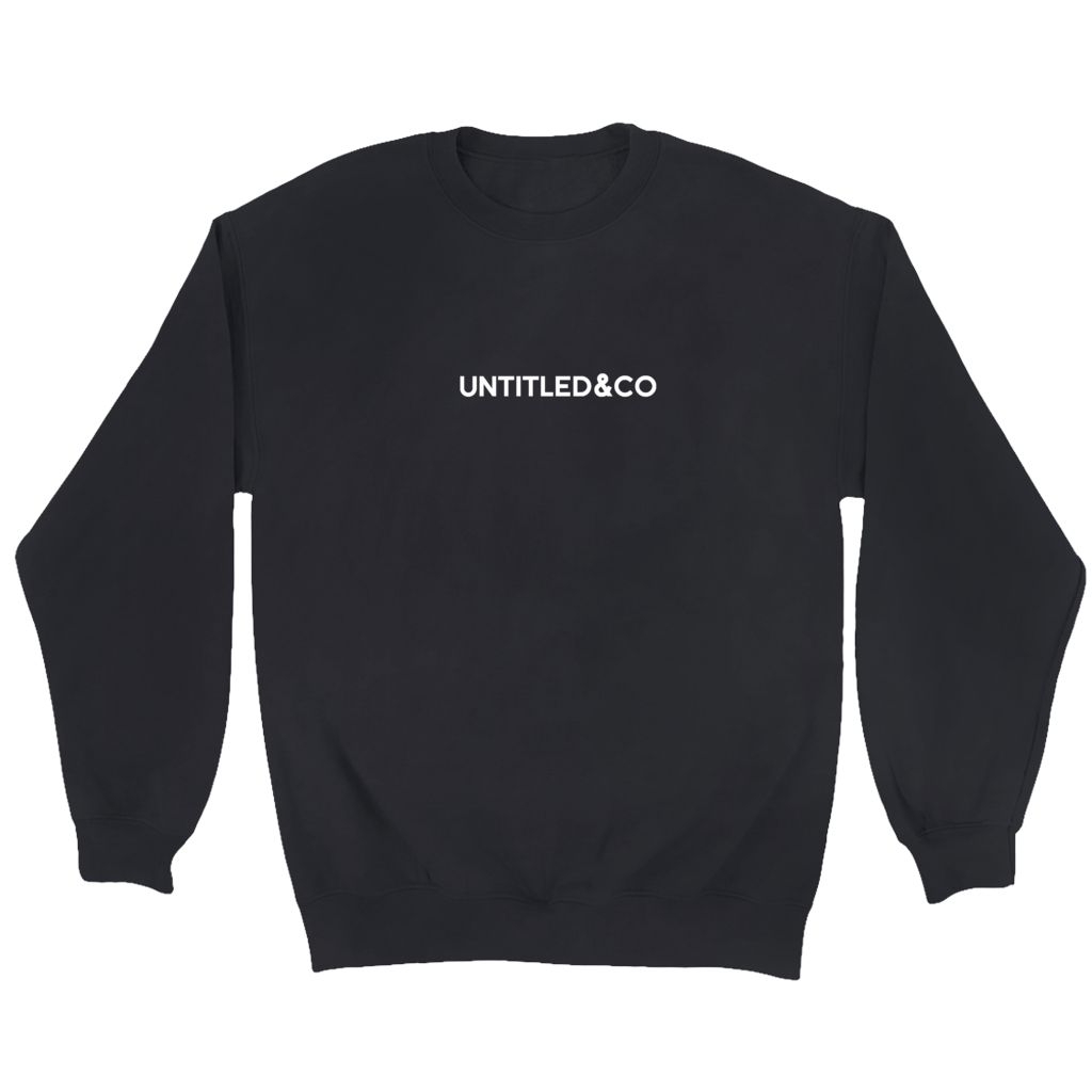 Script Logo Crewneck Sweatshirt in Black with White
