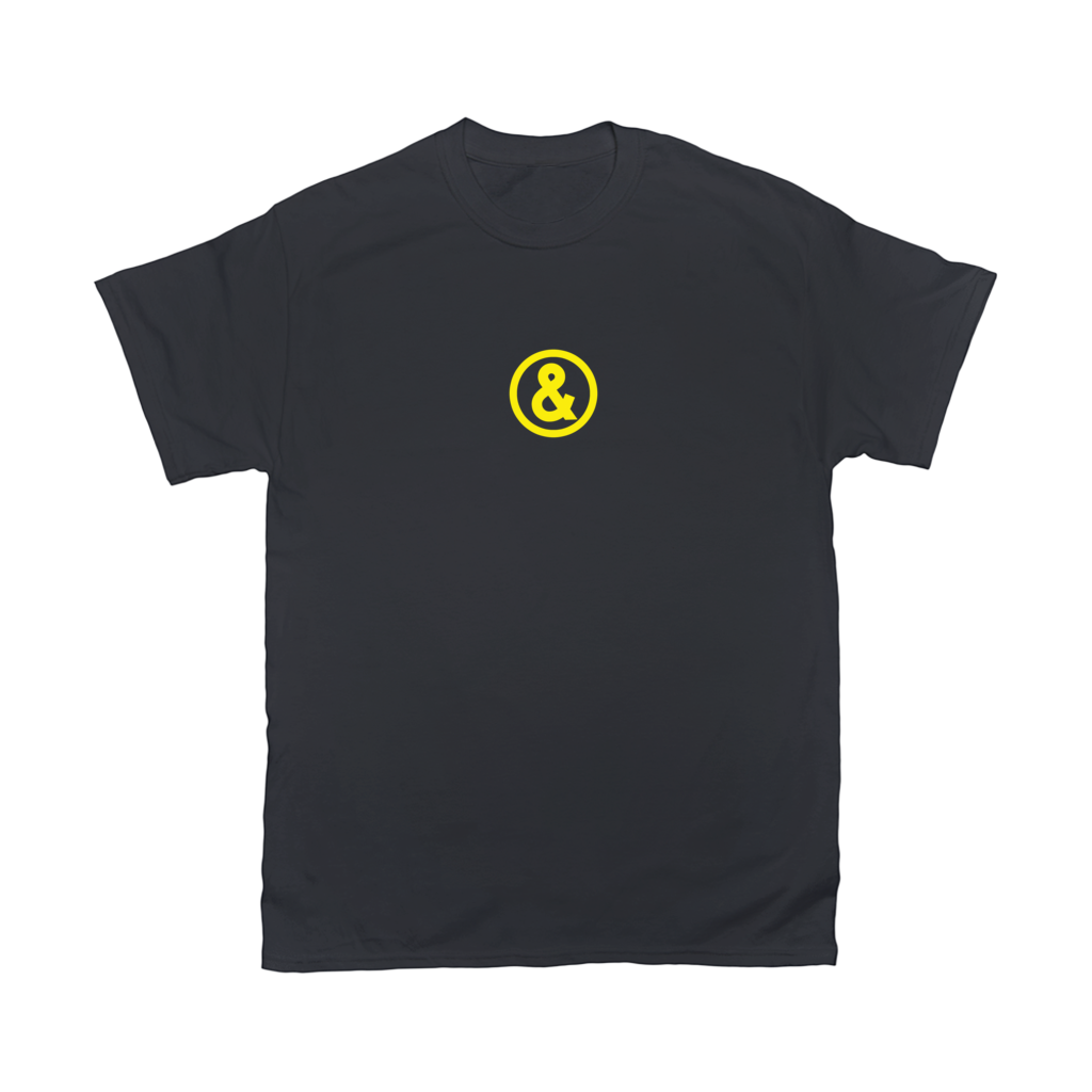 Circle Logo T-Shirt in Black with Yellow