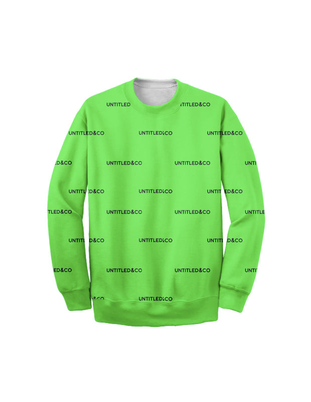 Andreas Sweatshirt in Green with Black