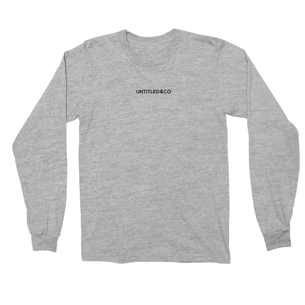 Script Logo Long Sleeve Shirt in Grey with Black